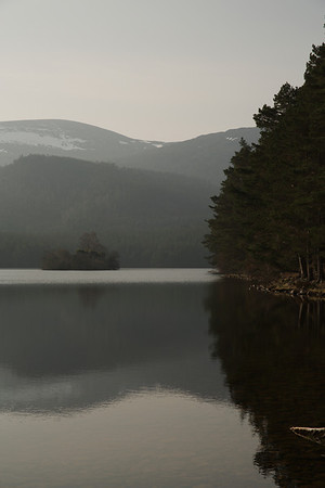 Stunning early morning view across Loch An Eilein