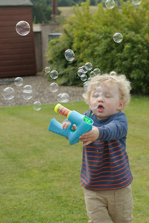 "When I said ""control"", I meant random firing of the bubble gun"