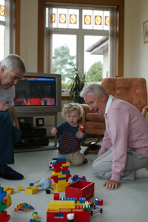 Eddie quickly gets to work organising the Grandads!